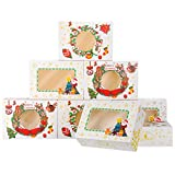 NPLUX 24 Pack Christmas Cookie Boxes with Window Christmas Pastry Boxes for Gift Giving and Party...
