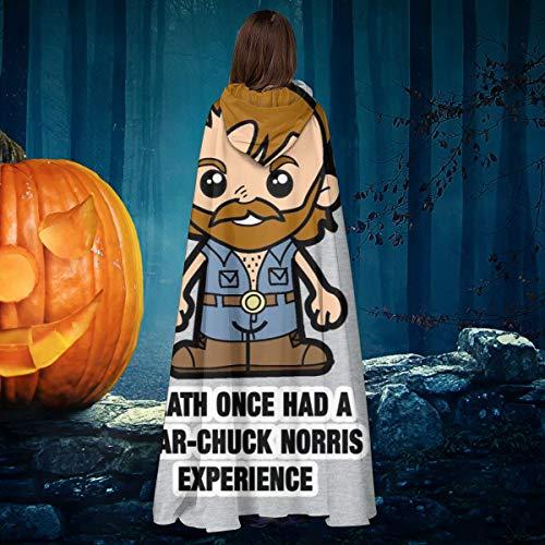 AISFGBJ Lil Chuck Norris Death Unisex Navidad Halloween Bruja Caballo con capucha Vampiros Capa Cosplay Disfraz