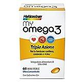 Multicentrum My Omega 3 Tripla Azione Integratore Alimentare 60 Mini Perle