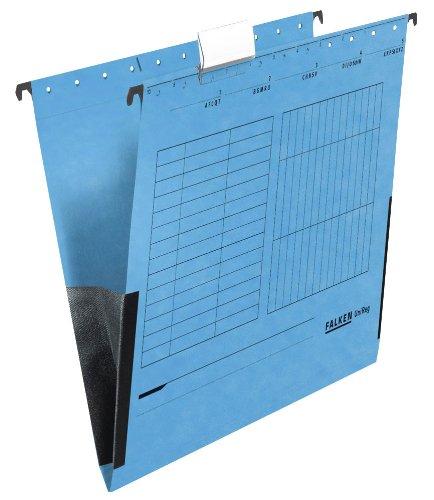 25 FALKEN Hängetaschen UNIREG / blau / DIN A4 / 230 g/m²