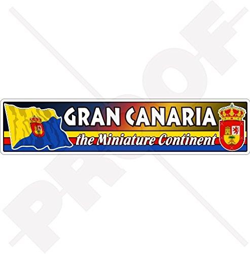 GRAN CANARIA Vapensköld Canary Islands Spanien, Islas Canarias 180 mm (7,1 tum) vinyl bildekal