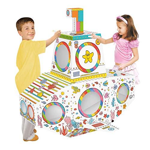 STKASE® Spielhaus Rakete Aus Stabilem Bastelkarton, Individuelle Gestaltung Mit Buntstiften Oder Filzmalern, Ab 3 Jahre Spielzeug