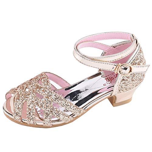 JiaMeng Mädchen Festliche Tanzschuhe, Standard Latein Ballsaal Salsa Tango Schuhe, Kinder Pailletten Prinzessin Kinderschuhe, kleine Schuhe, einzelne Mädchenschuhe