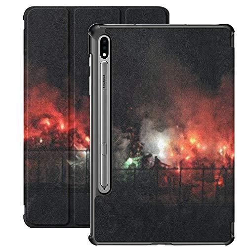 Galaxy Tablet S7 Plus Custodia da 12,4 pollici 2020 con supporto per penna S, Milano, 23 ottobre 2014 Custodia protettiva Folio per calcio francese sottile per Samsung