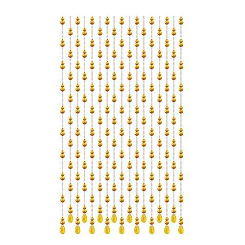 NMDCDH Perlen Türvorhänge für Türöffnungen Kristalle Perlenschnur Vorhang für Raumteiler - 20 Stränge Home Hanging Screen Handmade Simple Style, 4 Farben (Farbe: C, Größe: 0,8x1,0 m)