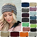 Hair Band for Women, Women Headdress Protected Keep Warm Knitting Handmade Fashion Sport Hairband Wide Side, Christmas Birthday Gifts Headbands for Mother Girlfriend (#10-Gray, One)