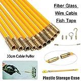 10 varillas de fibra de vidrio + 2 pulsadores de latón + 1 extensor flexible para el acceso a los cables y cables bajo las cuchillas de suelo, sobre el techo, los cuellos y las cavidades de pared.