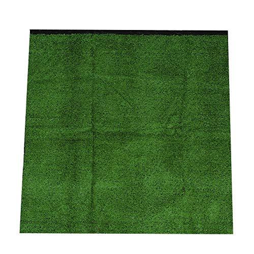 Rockyin 10 mm de Paisaje del jardín Grueso Simulación del césped de Hierba Artificial Alfombra Césped 1x1m (Verde Militar)