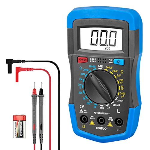 Digital Multimeter INFURIDER 4070L HFE 2000 Counts, Multi-tester Accurate Measure for Resistance, Capacitance, Inductance,and Transistor HFE Tester Auto-Zero & Auto-Polarity