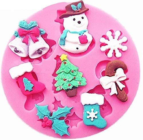 Siliconen mal voor handgemaakte kerstboom - klokken - sokken - slinger - snoep - sneeuwpop - sneeuwvlok