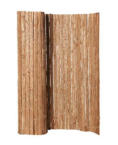 Hiss Reet® Baumrinde Sichtschutz, Rindenmatte I Perfekter Windschutz & Sichtschutz für Balkon, Zaun & Garten I Verschiedene Größen (150 x 300 cm)