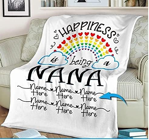 Personalized Nana Indianapolis Mall Blanket Happiness Luxury is Blank Being a Fleece