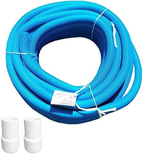 well2wellness® Poolschlauch Schwimmbadschlauch 32mm - 30m Rolle + 2 Schlauchtüllen