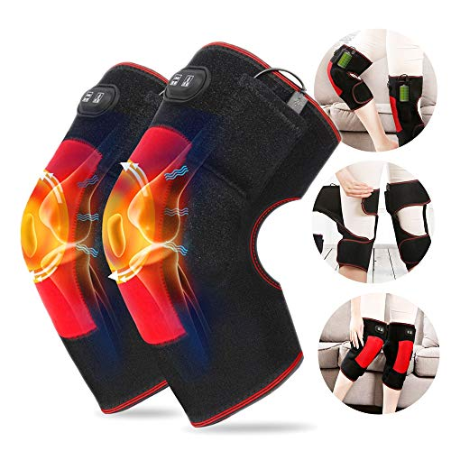 CWWHY Knee Leg Massager, with Heat Wrap Massage Knee Warmer, for Circulation and Muscles Pain Relief, The Best Gift for Parents During The Holiday Season