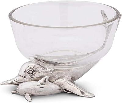 Vagabond House Swan Glass Dip Bowl 7 Long x 6 Tall