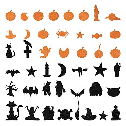 Kisangel 4 Sets Halloween Forth Stickers Bubble Post Thanksgiving Stickers ( willekeurige kleur )