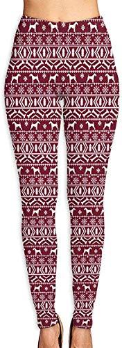 LVOE TTL Pantalon de Yoga Airedale Terrier Dog Christmas Blanc Rouge Fitness Power Flex Pantalon de Yoga Leggings