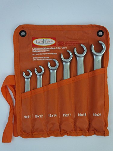 Bremsleitungsschlüssel Satz Offene Ringschlüssel Set Leitungsschlüssel 6 tlg.