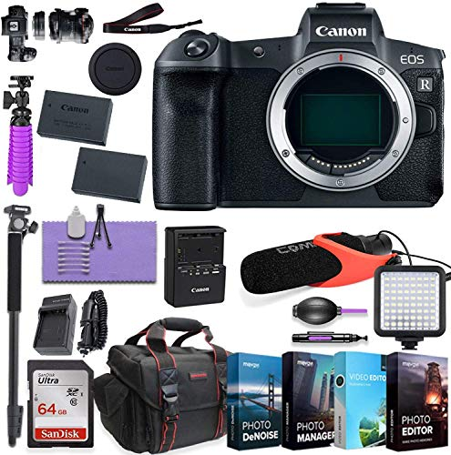 CanonEOS RP Mirrorless Digital Camera (Body Only) Bundled w/Deluxe Accessories Like & 4-Pack Photo Editing Software (Body only Basic Kit)