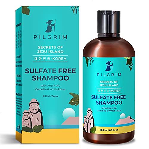Pilgrim Mild Sulphate Free Shampoo (Argan Oil) For Dry Frizzy Hair, Men and Women, No Sulphate No Paraben, Korean Beauty Secrets...