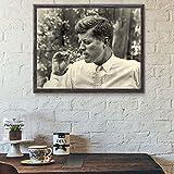 LYFCV Vintage Poster Fotodruck John F Kennedy Rauchen JFK