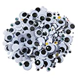 Creativity Street Round Wiggle Eyes, Assorted Size, Assorted on White, Pack of 500 - 324579