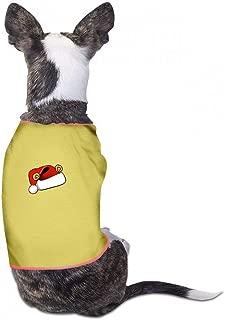 Summer Pet Apparel Christmas Pet Clothes Dog T-Shirts Clothes Merry Christmas Dogs Summer Vest Costumes Fashion T-Shirt Breathable Sleeveless Summer - (Sky Blue, Gray, Yellow, Black)