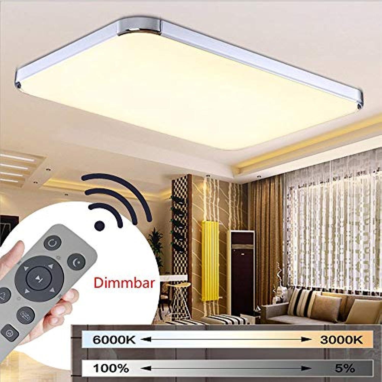 BMQXX 72W Dimmbar LED Modern Deckenlampe Ultraslim Deckenleuchte Schlafzimmer Küche Flur Wohnzimmer Lampe Wandleuchte Energie Sparen Licht [Energieklasse A++]