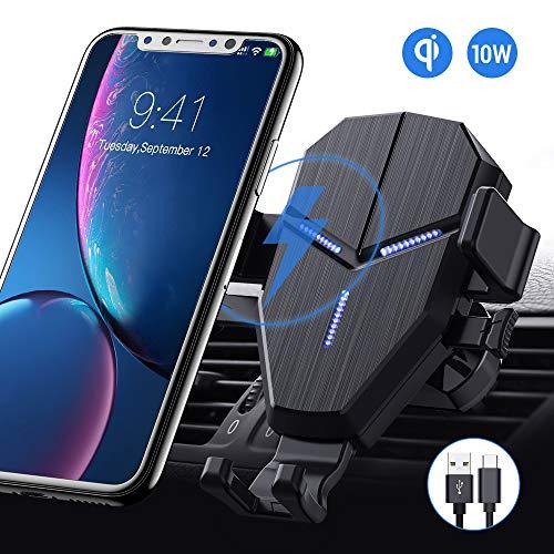 Avolare Wireless Charger Auto, 10 W Kabelloses Auto Ladegerät Qi Auto Handyhalterung Kfz Induktive Ladestation Lüftung Schnellladung für iPhone SE 11 Pro/Xs Max/XR/XS/X/8 Galaxy S20/S10/S10+/S9/S8