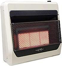 Lost River LR3TIR-LP Liquid Propane Gas Ventless Infrared Radiant Plaque Heater, 30,000 BTU, White
