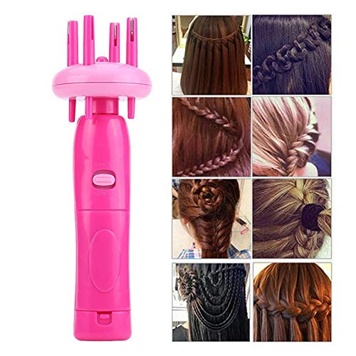 Aoile Hair Styling Tools,Women Portable Electric Automatic DIY Hairstyle Tool Braid Machine Hair Weave Roller Twist Braider Device Kit