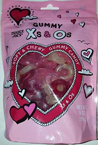 Trader Joe's Soft and Chewy Gummy Candy in X's & O's - Kosher & Gluten Free 14 OZ Bag