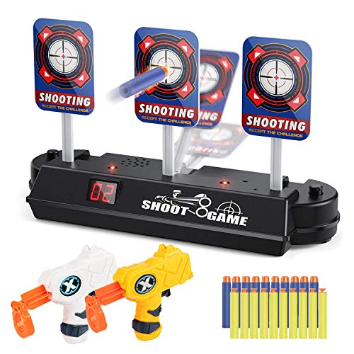 JRD&BS WINL Shooting Games for Kids–Electric Scoring Auto Reset Shooting Digital Target Practice Toys for Boys and Girls with Foam Dart Gun,Best Gifts for Kids,Birthday Gifts for Kids Toys for 6-18 Yr