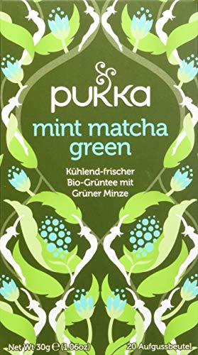 Pukka Bio-Tee Mint Matcha Green 80 Teebeutel, 4er Pack (4 x 20 beutel)