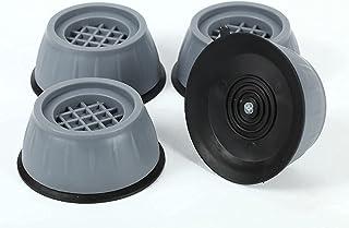 VIBRAT Washer Dryer Anti Vibration Pads with Suction Cup Feet, Fridge Washing Machine Leveling Feet Anti Walk Pads Shock A...
