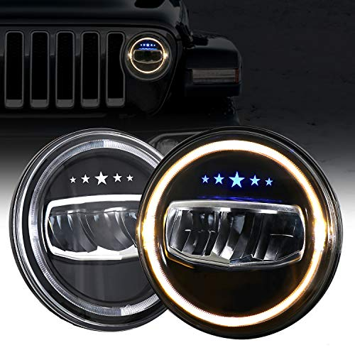 LED Headlights for Jeep, AAIWA 7 Inch 80W Round...