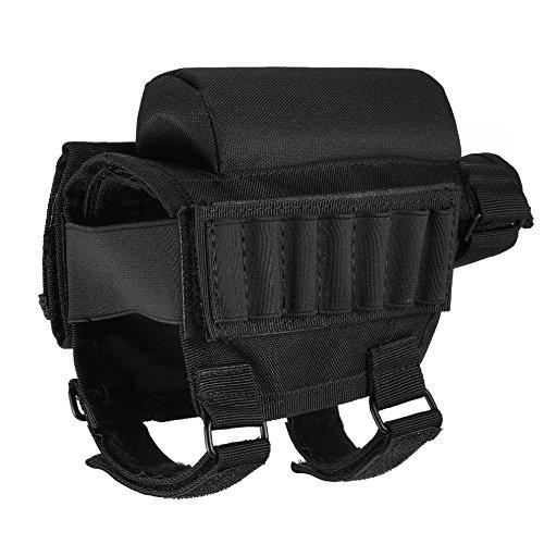 Portátil ajustable Táctico Culata Butt Stock Rifle Cheek Resto Bolsa Bolsa Bullet...