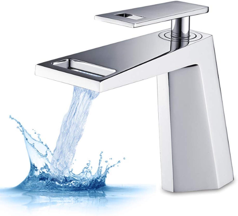 TYP faucet Modern Wasserhahn Badezimmer Wasserfall Wasserhahn Verchromung Einzelgriff Warm- Und Kaltwasseraufbereitung Geeignet Für Restaurant Hotelbadezimmer