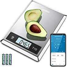 RENPHO Digital Food Scale, Kitchen Scale Weight Grams and oz for Baking, Cooking and Coffee with Nutritional Calculator for Keto, Macro, Calorie and Weight Loss with Smartphone App, Stainless Steel