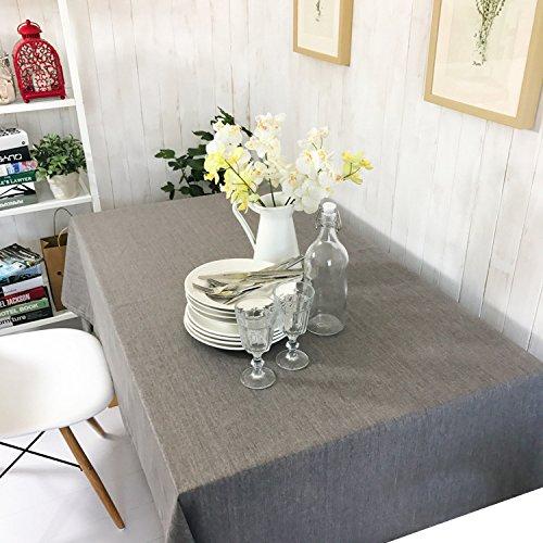 Unique HM&LN Rechteckige Tischdecke Baumwolle Leinen Wasserdicht Dekoration Tischtuch waschbare Küchentischabdeckung für Speisetisch (130 x 220 cm)
