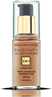 Max Factor Facefinity All Day Flawless, Liquid Foundation, 3in1, 085 Caramel, 30 ml