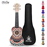 Honsing Kids Ukulele,Soprano Ukulele Beginner,Hawaii kids Guitar Uke Basswood 21 inches with Gig Bag-Folk Custom