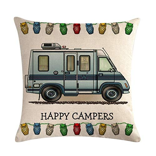 IMDOU Fashion Cushions Square Decorative Throw Pillow, 18' X 18' Cushions Filled Pp Cotton Retro Caravan Pattern Simple Fashion Four Seasons Universal Home Decoration