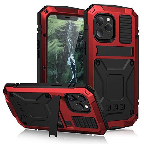 Xingyue Aile Covers y Fundas Para iPhone 12 Pro Max Max, pata de cabra La caja del teléfono a prueba de polvo a prueba de golpes Vidrio templado de metal cubierta Para el iPhone 12 MI-NI 11 Pro / Pro