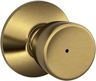 Schlage F40 BEL 609 16-080 10-027 Bell Bed and Bath Knob, Antique Brass