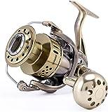 Lloow Carrete de Pesca de Metal Resistente a la corrosión carretes 40 kg Pesca con Mosca 2020,8000Serie