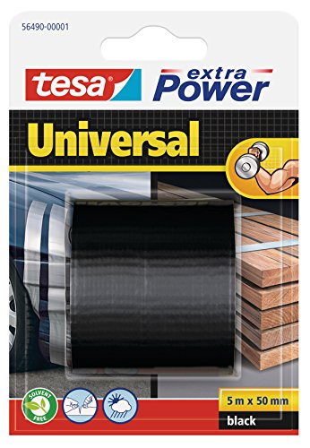 Tesa 56490-00001-01 Cinta Extra Power Universal, Negro, 5 m x 50 mm