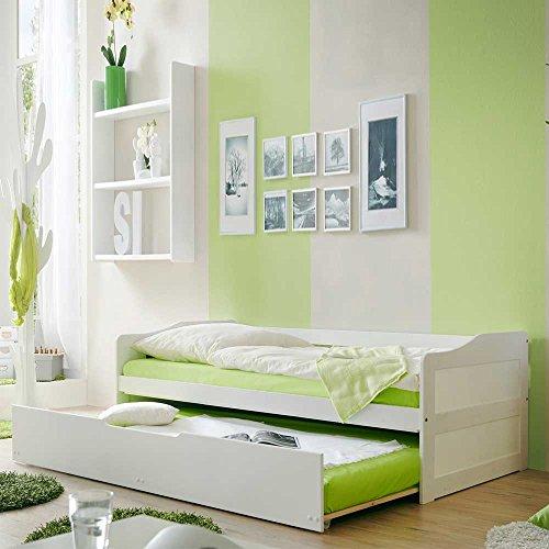 Jugendbett mit Gästebett Weiß Pharao24 - 4