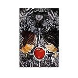 KFMD Cartel de anime de Razonamiento de la Death Note Poster Light And L Poster para habitación estética 30 x 45 cm
