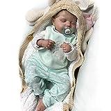 SPFTOY 19 Pulgadas Muñecas Reborn Niño Realista Suave Silicona Simulación Vinilo Recién Nacido Hecho a Mano Azul Muñecos Regalo Magnetismo Juguetes para niños Mayores de 3 años